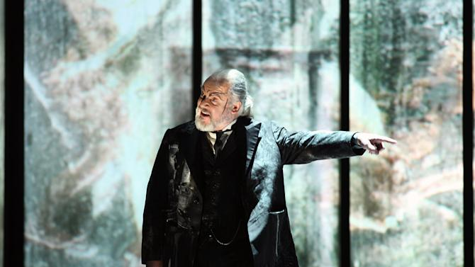 "This photo provided by the press office the La Scala Opera Theatre shows John Tomlinson, of Britain, performing in the role of Hunding during the rehearsals of Richard Wagner's ""Die Walkure"", in Milan, Italy, Friday, Dec. 3, 2010. The opera season opens at La Scala on Dec. 7 with Wagner's opera, directed by Daniel Barenboim. (AP Photo/Brescia e Amisano, Courtesy of La Scala, ho) EDITORIAL USE ONLY"