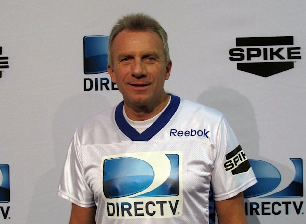 Football great Joe Montana arrives at DIRECTV's Sixth Annual Celebrity Beach Bowl on Saturday, Feb. 4, 2012 at Victory Field in Indianapolis. (AP Photo/Nekesa Moody)