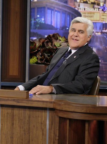 This Sept. 21, 2012 photo released by NBC shows Jay Leno, host of &quot;The Tonight Show with Jay Leno,&quot; on the set in Burbank, Calif. As Jay Leno lobs potshots at ratings-challenged NBC in his &quot;Tonight Show&quot; monologues, speculation is swirling the network is taking steps to replace the host with Jimmy Fallon next year and move the show from Burbank to New York. NBC confirmed Wednesday, March 20, it&#39;s creating a new studio for Fallon in New York, where he hosts &quot;Late Night.&quot; But the network did not comment on a report that the digs at its Rockefeller Plaza headquarters may become home to a transplanted, Fallon-hosted &quot;Tonight Show.&quot; (AP Photo/NBC, Paul Drinkwater)