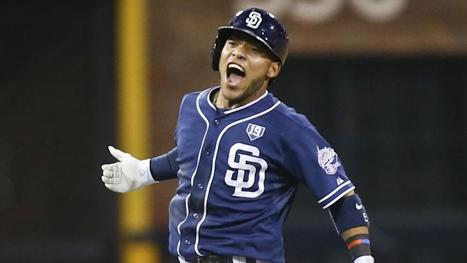 Amarista's 10th-inning single beats Dodgers