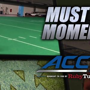 UNC's Ryan Switzer Backflips & Catches Footballs | ACC Must See Moment