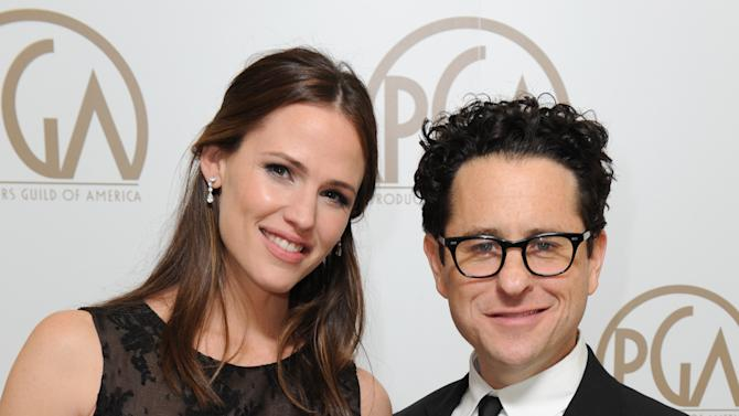 Jennifer Garner and J.J. Abrams are seen backstage at the 24th Annual Producers Guild (PGA) Awards at the Beverly Hilton Hotel on Saturday Jan. 26, 2013, in Beverly Hills, Calif. (Photo by Jordan Strauss/Invision for Producers Guild/AP Images)