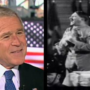 HOMEWORK COMPARES BUSH TO HITLER