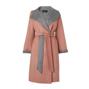 Jaeger pastel coloured belted coat