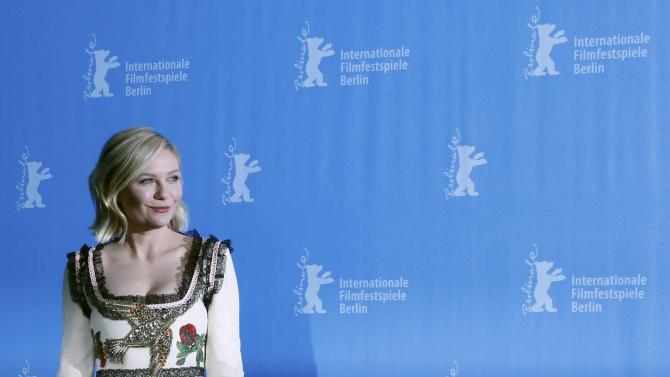 Actress Dunst poses during photocall at 66th Berlinale International Film Festival in Berlin