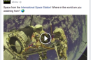 Viral Facebook pages are passing off old space clips as live footage to millions of viewers