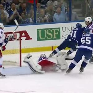 Stamkos steals puck and scores on other end