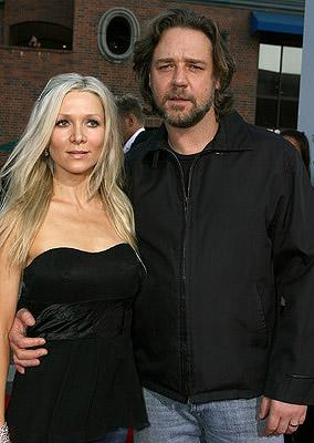 Danielle Spencer and Russell Crowe at the Los Angeles premiere of Lionsgate Films' 3:10 to Yuma