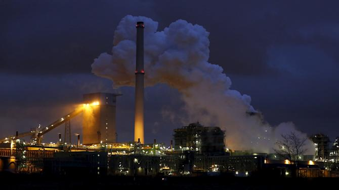 File photo of the coking plant and blast furnace of ThyssenKrupp Steel Europe AG in Duisburg