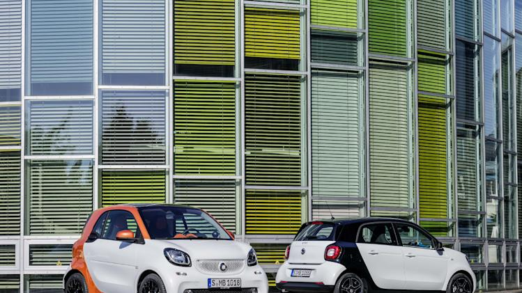 The new Smart ForTwo and Smart ForFour are due to go on sale in 2015.