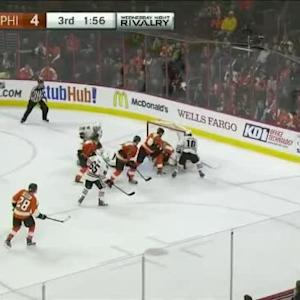 Steve Mason Save on Patrick Sharp (18:06/3rd)