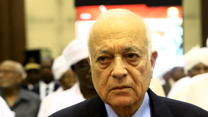 Nabil Elaraby, Secretary-General of the Arab League, arrives to attend the opening session of Sudan National Dialogue conference in Khartoum