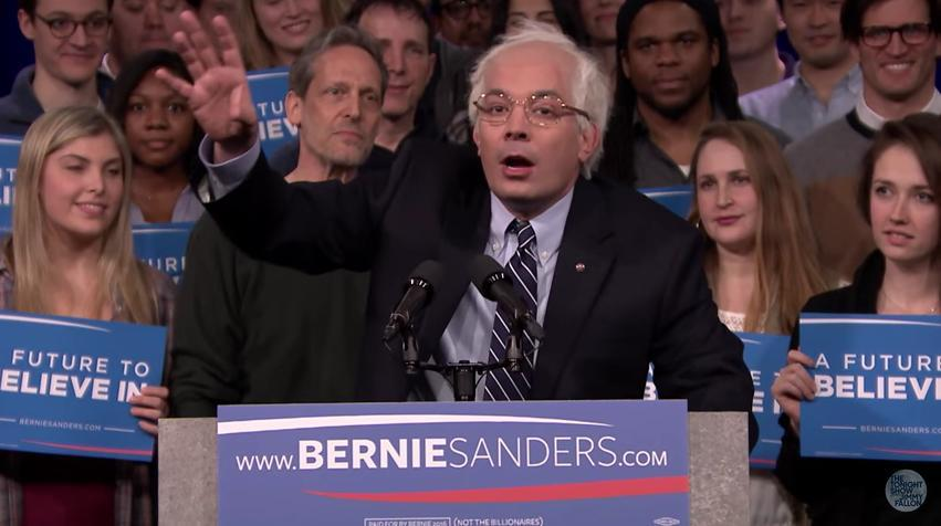 Watch Jimmy Fallon play Bernie Sanders on The Tonight Show
