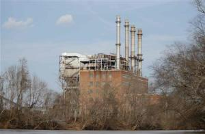 The Duke Energy coal-fired power plant is seen from the Dan River in Eden