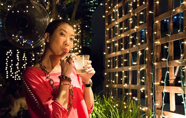 Local TV-host Patricia Mok was bubbly shared during her interview on Wednesday evening. (Yahoo! photo/ Deborah Choo)