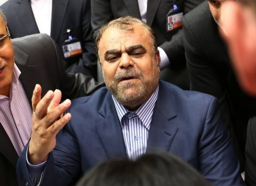 <p>Iran's minister of Petroleum, Rostam Ghasemi, arrives for the 161st meeting of the OPEC in Vienna, on June 14. A European Union embargo on Iranian oil went into effect on Sunday, provoking anger in Tehran which says the measure will hurt talks with world powers over its sensitive nuclear activities.</p>