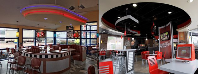 Burger King restaurant interiors