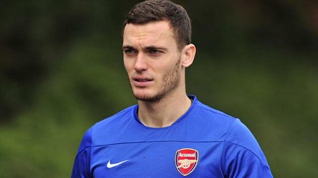 Arsenal's Belgian defender Thomas Vermaelen in training (AFP)