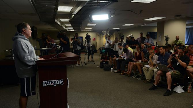 Patriots Coach Bill Belichick Holds News Conference Prior To Teams Start Of Preseason Training