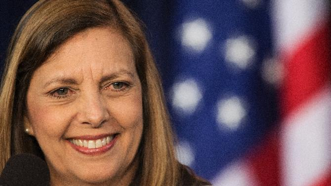 The head of the Cuban delegation, Josefina Vidal, delivers remarks regarding the concluded fourth round of talks on May 22, 2015, at the Foreign Press Club in Washington, DC