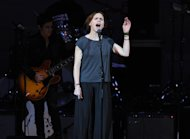 "Singer Nina Persson from ""The Cardigans"" performs at ""The Music of Prince"" tribute concert at Carnegie Hall on Thursday March 7, 2013 in New York. (Photo by Evan Agostini/Invision/AP)"