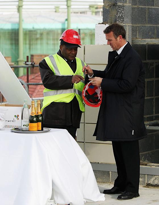 Topping Out of the new Vauxhall End Stand