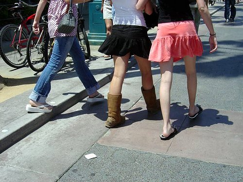 5. Mixed Season Trends (Specifically UGGS with Skirts)