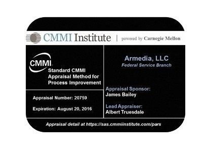 Armedia Appraised at CMMI® Level 3