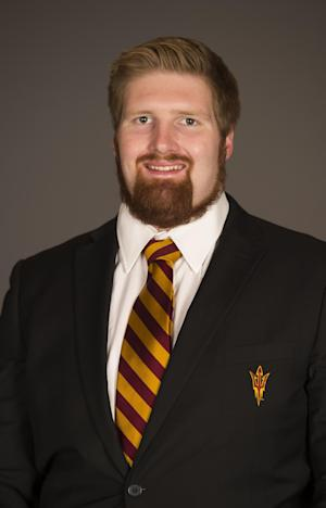 """This undated image provided by Arizona state University shows Edward """"Chip"""" Sarafin in Phoenix. Arizona State offensive lineman Sarafin has told a local magazine he is gay, making him the first active Division I football player to come out. (AP Photo/Arizona State University)"""