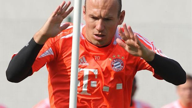 arjen robben training bayern munic