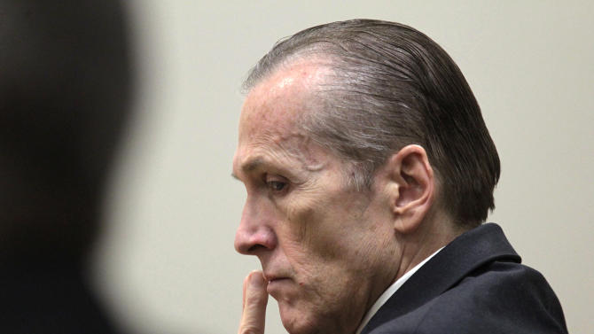 Martin MacNeill listens to Gypsy Willis testify during his murder trial in 4th District Court in Provo, Utah Thursday Nov. 7, 2013. MacNeill is charged with murder for allegedly killing his wife Michele MacNeill in 2007. (AP Photo/The Salt Lake Tribune, Al Hartmann, Pool)