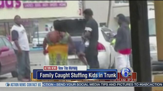 Florida family caught stuffing kids into trunk