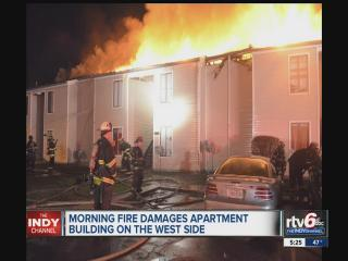 IFD battle 2-alarm apartment fire on Indianapolis' west side