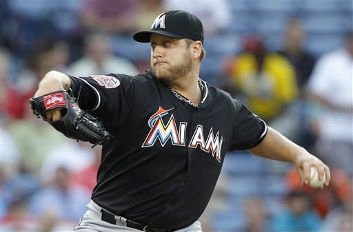 Stanton's 2-run HR helps Marlins beat Braves, 8-4