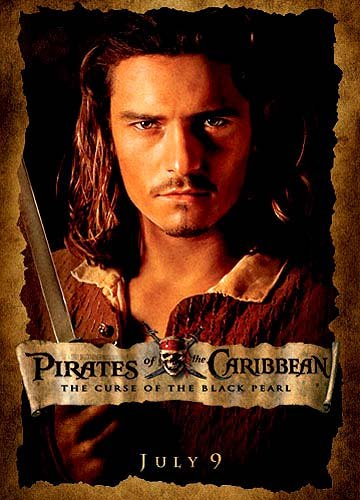 Orlando Bloom of Walt Disney's Pirates Of The Caribbean: The Curse of the Black Pearl