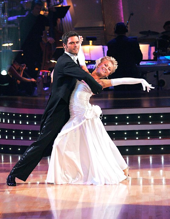 "Chuck Wicks and Julianne Hough perform the Waltz to ""Are You Lonesome Tonight?"" by Elvis Presley on ""Dancing with the Stars."""