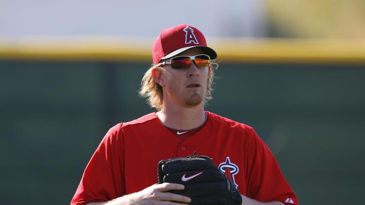 MLB: Los Angeles Angels-Pitchers & Catchers