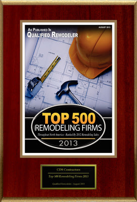 "CDS Contractors Selected For ""Top 500 Remodeling Firms 2013"""