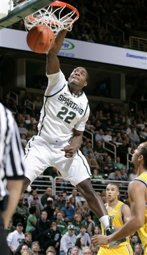 Dawson leads No. 19 Michigan State past UMKC 89-54