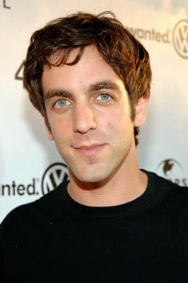 B.J. Novak at the Hollywood premiere of Universal Pictures' The 40-Year-Old Virgin