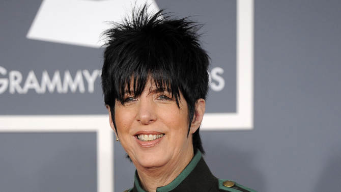 """FILE - This Feb. 12, 2012 file photo shows songwriter Diane Warren arriving at the 54th annual GRAMMY Awards in Los Angeles. Tony Award-winning producer Dede Harris has optioned the Warren's music catalogue. The creative team and a timeline for the project will be announced at a later date. Warren's writing credits include Aerosmith's """"I Don't Want to Miss a Thing,"""" Celine Dion's """"Because You Loved Me,"""" Toni Braxton's """"Un-Break My Heart,"""" LeAnn Rimes' """"How Do I Live"""" and """"I Was Here"""" for Beyonce. Harris is the Tony Award-winning producer of """"Hairspray,"""" """"Dirty Rotten Scoundrels"""" and """"A Raisin in the Sun."""" Her recent hits include """"One Man, Two Guvnors,"""" """"War Horse"""" and """"Clybourne Park."""" (AP Photo/Chris Pizzello, file)"""