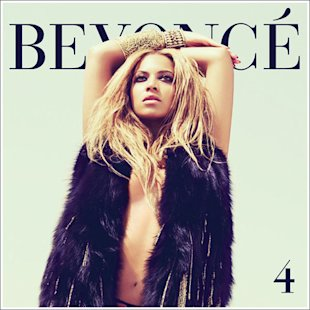 Beyonce's skin also looks lighter on the cover of her album,