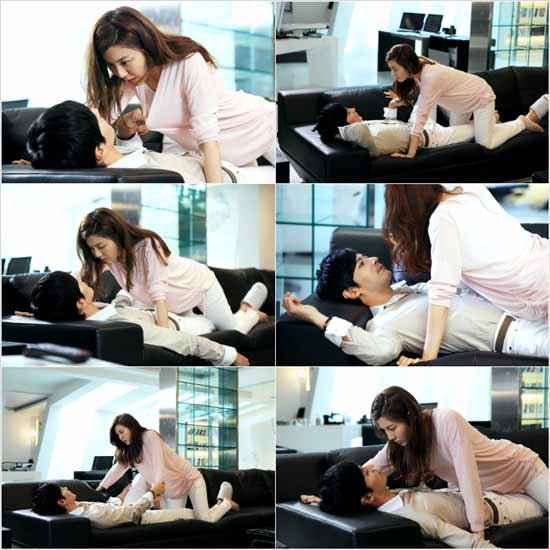 Kim Ha Neul Crawls on Top of Jang Dong Gun in 'A Gentleman's Dignity'