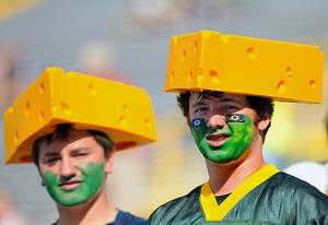 Cheesehead fans of the Green Bay Packers | Photo Credits: Al Messerschmidt/Getty Images