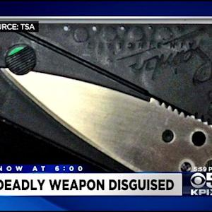 TSA Says Growing Number Of Passengers Stopped With 'Credit Card' Knives At SFO, Oakland Airports