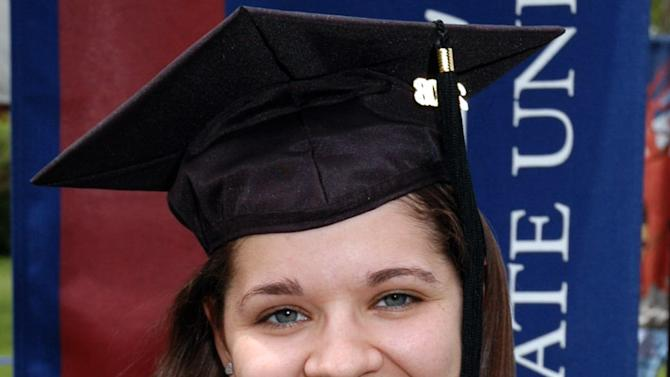 FILE- This undated file photo provided to The Associated Press by Eastern Connecticut State University shows Victoria Soto, 27, killed Friday, Dec. 14, 2012, by a gunman at Sandy Hook Elementary School in Newtown, Conn.  Victoria Soto will be one of six educators from the school honored posthumously with the 2012 Presidential Citizens Medal, presented at a White House ceremony on Feb. 15, 2013. (AP Photo/Eastern Connecticut University, File)