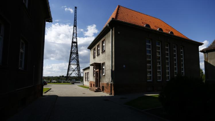 View of Gliwice radio tower and radio station buildings