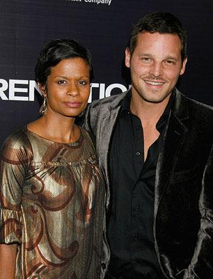 Justin Chambers and wife Keisha at the Los Angeles premiere of New Line Cinema's Rendition