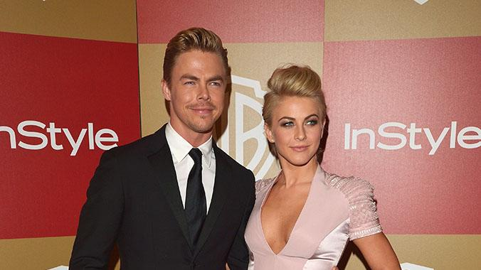 InStyle And Warner Bros. Golden Globe Party - Arrivals: Derek Hough and Julianne Hough