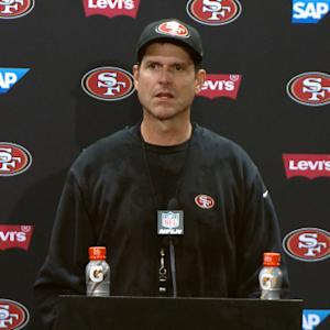 Jim Harbaugh on coaching San Francisco 49ers: 'I'll be forever proud'